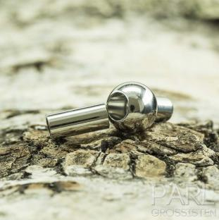 Magnetlås med kula 16x8 mm, Platinafärg (st)