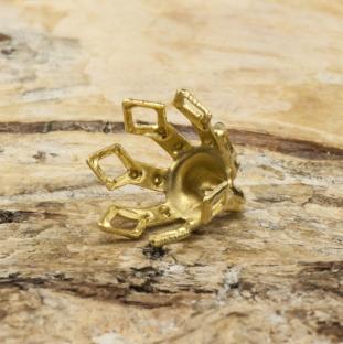Pärlhållare Blomklocka 7x8 mm, Guldfärg (5st)