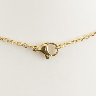 Halskedja med lås i Rostfritt stål 45 cm, Guldfärg (st)