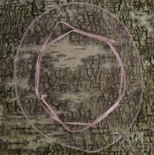 Rund tygpåse organza 26 cm, Rosa (st)