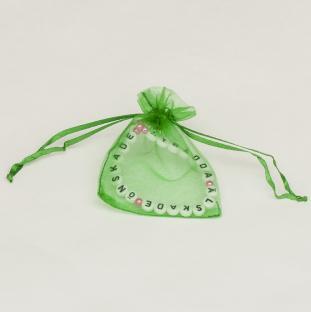 Tygpåse organza 7x9 cm, Grön (st)
