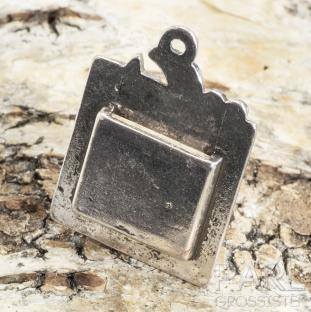 Berlock/infattning 35x25 mm, Antiksilver (st)