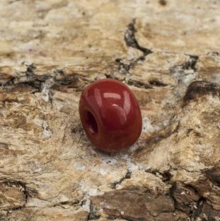 Seed bead opak 5 mm, Mörkröd (20gr)