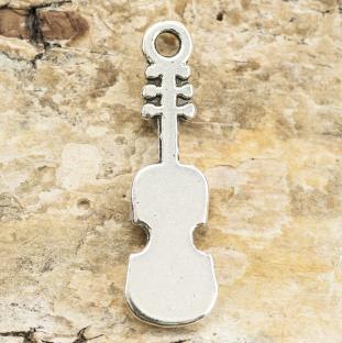 Berlock Violin 8x25 mm, Antiksilver (5st)