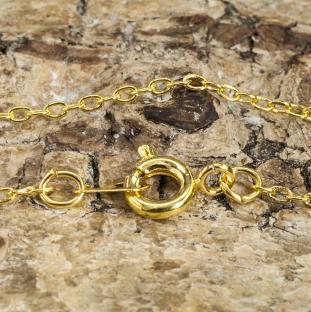 Halskedja med lås 44 cm, Guldfärg (st)