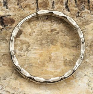 Nyckelring 25x1,5 mm, Platinafärg (5st)