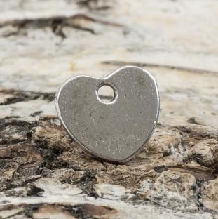 """Berlock hjärta med """"LOVE"""" 9,5x10,5 mm, Antiksilver (5st)"""