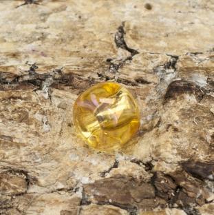 Seed bead transparent rainbow 5 mm, Bärnsten (20gr)