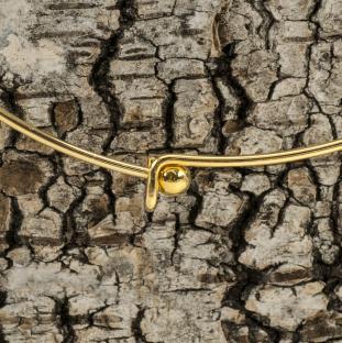 Stel halsring med haklås och lös kula, Guldfärg (st)