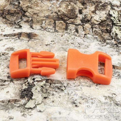 Lås Survival plast 29x15 mm, Orange (st)
