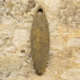 Berlock Löv, 4x15 mm, Antikbrons (10st)