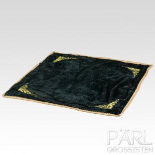 Pärlmatta i sammet 30x30 cm, Svart/Vit (st)