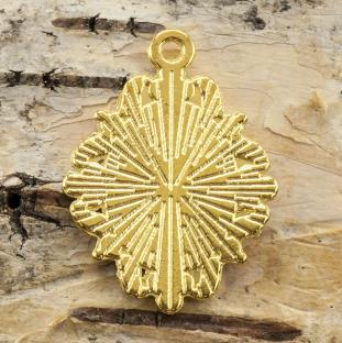 Cabochoninfattning Hänge Ornament, Guldfärg (st)