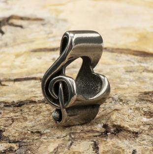 Ormlänkspärla G-klav 6x14 mm, Rostfritt stål (st)