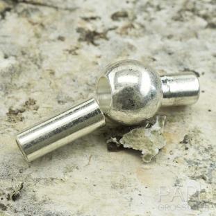 Magnetlås med kula 13x6 mm, Silverfärg (st)