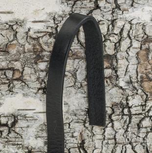 Äkta läderband 10x2,5 mm, Svart (meter)