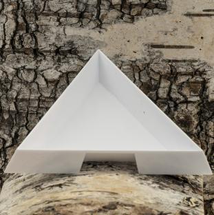 Pärlfat, vit triangel (st)