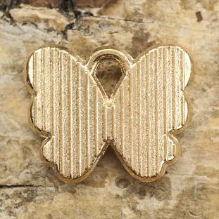Berlock Fjäril 13x11 mm, Blå/Guldfärg (st)