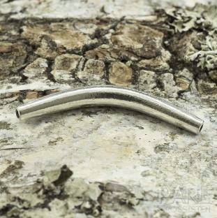 Mellandel Böjt rör 33x4 mm, Antiksilver (st)