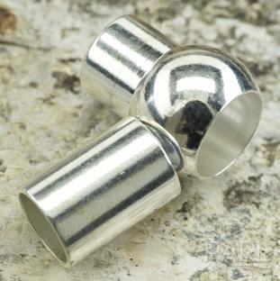 Magnetlås med kula 17x10 mm, Silverfärg (st)