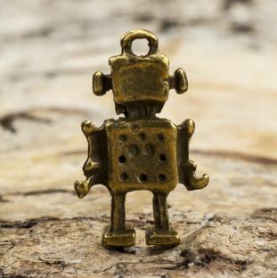 Berlock Robot 10x17 mm, Antikbrons (5st)