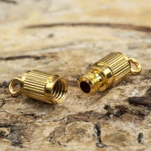 Skruvlås 18x4 mm, Guldfärg (10st)