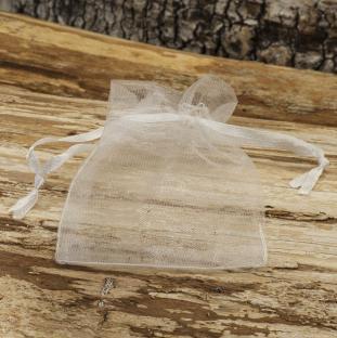 Tygpåse organza 7x9 cm, Vit (st)