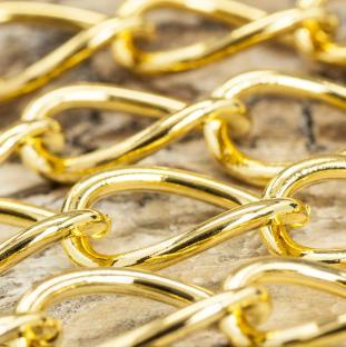 Smyckekedja 17x12 mm, Guldfärg (1 m)