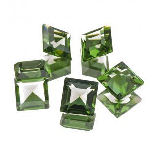 Swarovski Square 10x10 mm, Green Tourmaline (st)