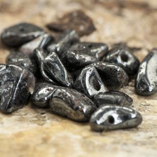 Hematit Chip 2-4 x 4-10 mm, Grå (6g)