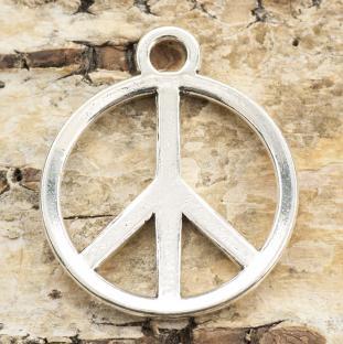 Berlock Peacemärke 23x28 mm, Antiksilver (st)