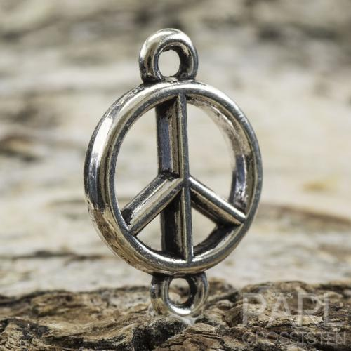 Connector Peace 18x12 mm, Antiksilver (5st)