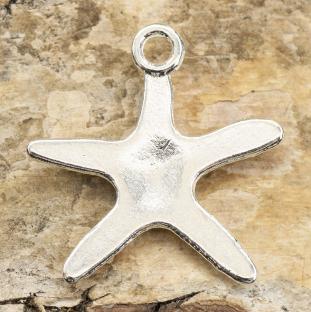 Berlock Sjöstjärna 19x19,5 mm, Silverfärg (5st)