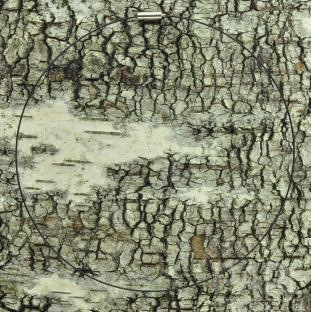 Tunn halsring 1 mm, Svart (st)