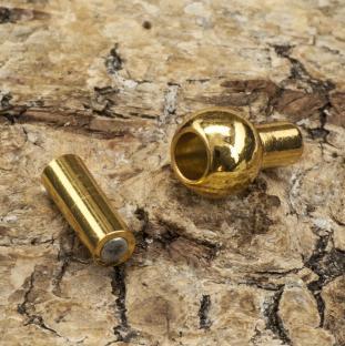 Magnetlås Guldpläterad 18K 13x6 mm, Guldfärg (st)