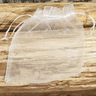 Tygpåse organza 15x20 cm, Vit (st)