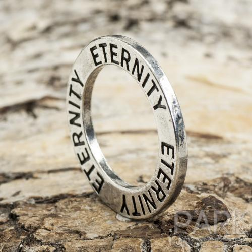 "Budskapsring ""ETERNITY"" 23 mm, Antiksilver (st)"