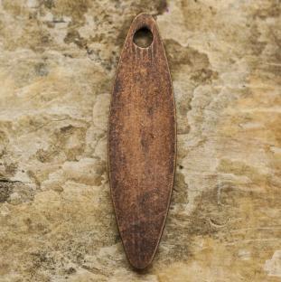 Berlock Löv, 4x15 mm, Antikkoppar (10st)
