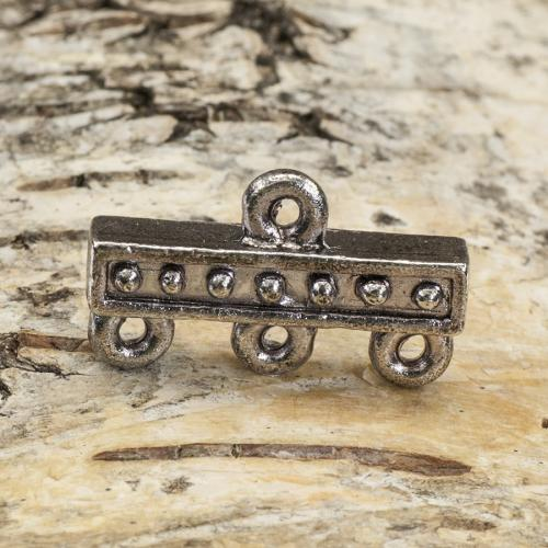 Connector Rustik 1-3 12x18 mm, Antiksilver (5st)
