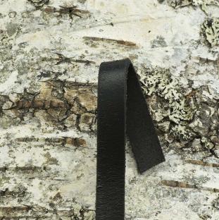 Äkta läderband 10x2 mm, Svart (meter)