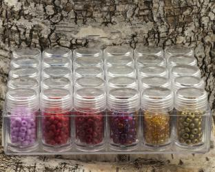 Box med 5 mm Seed bead, Mix (st)