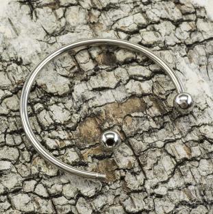 Stel armring 53 mm, Platinafärg (st)