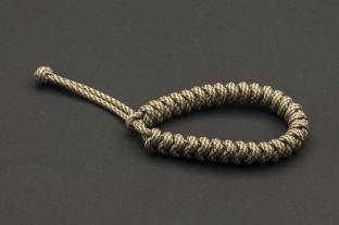 Paracord 550, Coyote Silver Twist (meter)