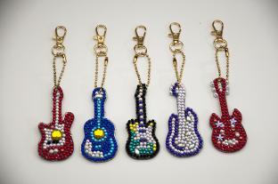 Diamond Painting Nyckelring, Gitarrer