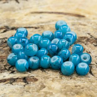 Glaspärla spraymålad 4 mm, Blå (60st)