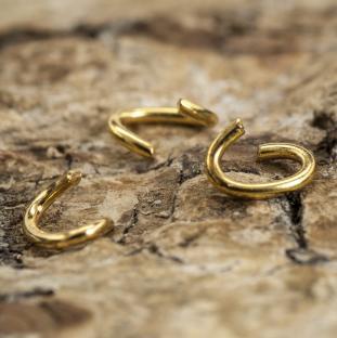 Ring Oval öppningsbar 3 mm, Guldfärg (50st)